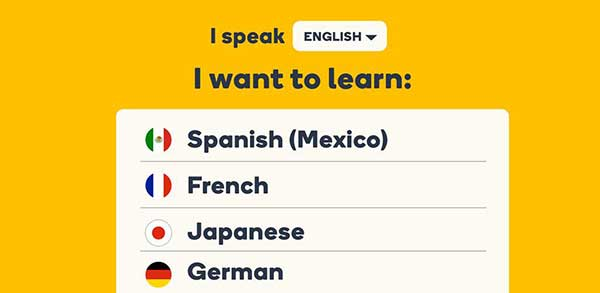Learn Languages with Memrise Spanish French