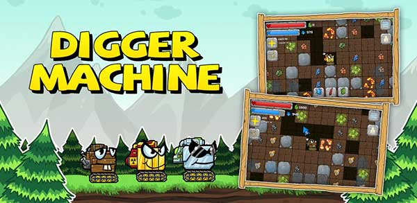Digger Machine dig and find minerals