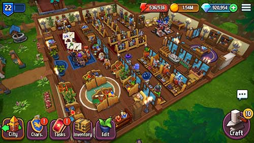 Shop Titans: design & Trade Apk