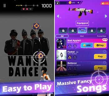 beat shooter gunshots rhythm game apk