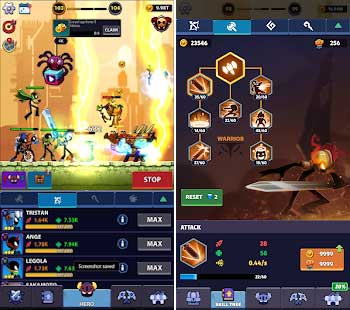 idle stickman heroes monster age apk