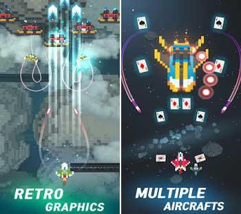 sky wings pixel fighter 3d apk