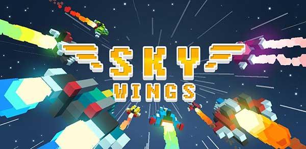 sky wings pixel fighter 3d mod
