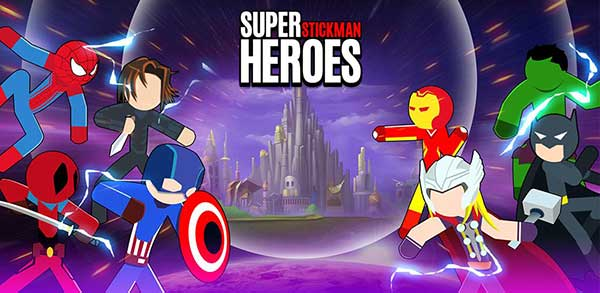 super stickman heroes fight mod